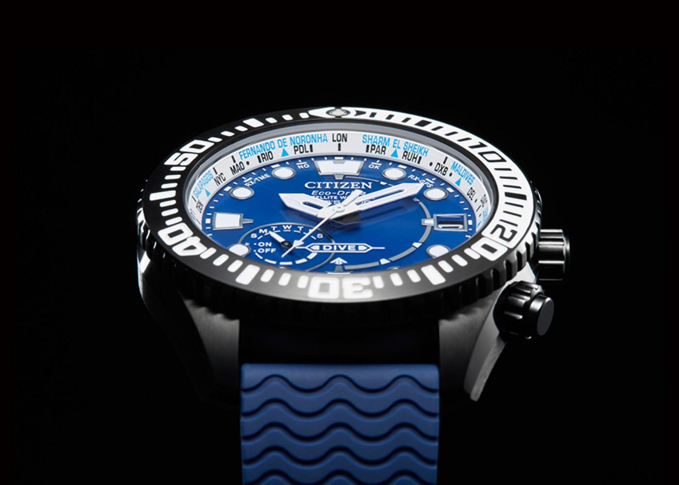 Detalle esfera Promaster cc5006-06l color azul