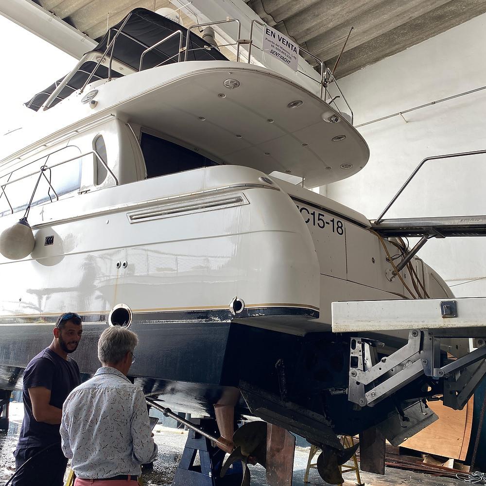 la inspeccion tecnica previa nos permite saber el estado actual del barco y si está en mantenimiento