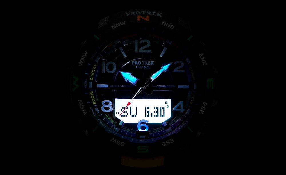 prtb50 iluminacion nocturna esfera-protrek quadsensor