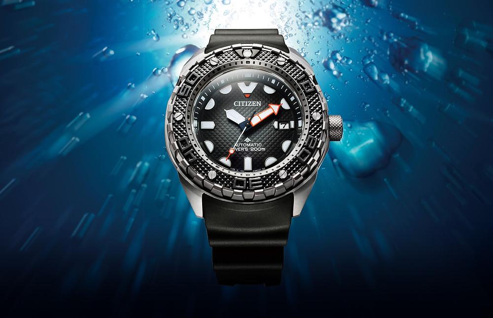nuevo reloj buzo 200m calibre automatico 9051 citizen alta gama modelo NB6004-08E