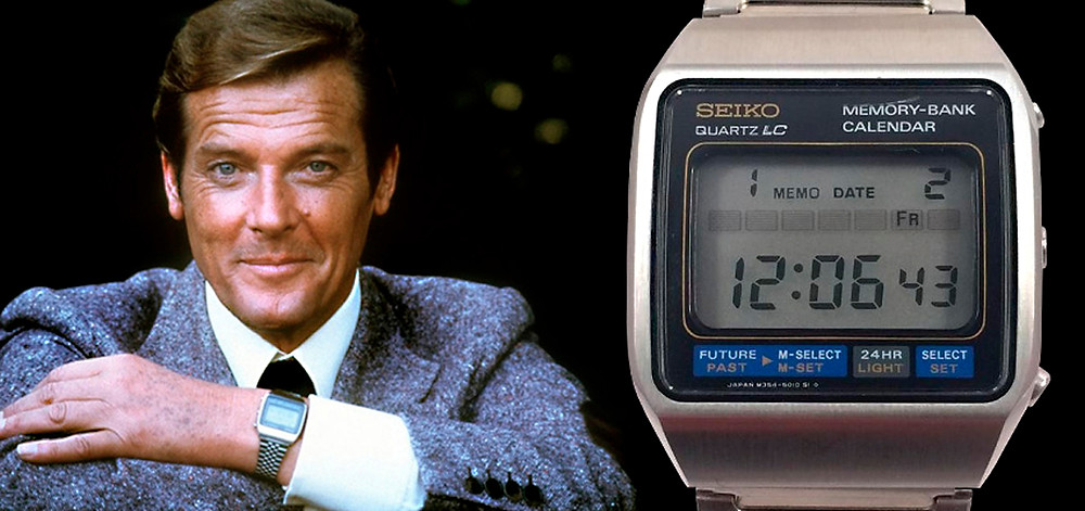 reloj 007 roger moore moonraker seiko m354 memory bank