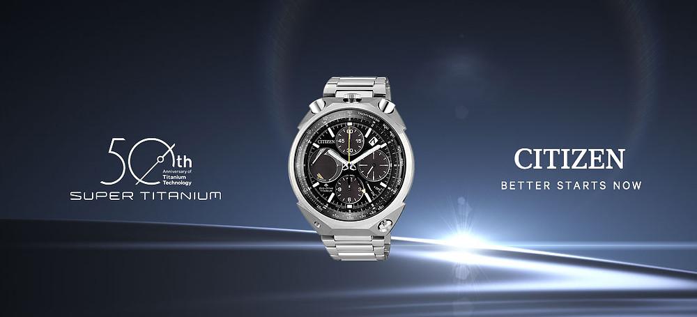 reloj Citizen bullheadf modelo AV0080-88A del 50th super-titanium