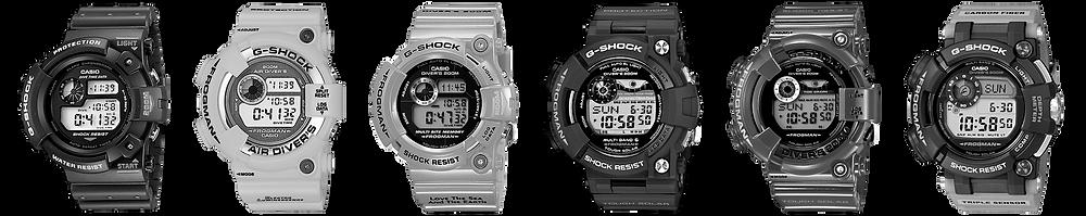Todos los relojes G-Shock Frogman desde 1993 hasta 2019