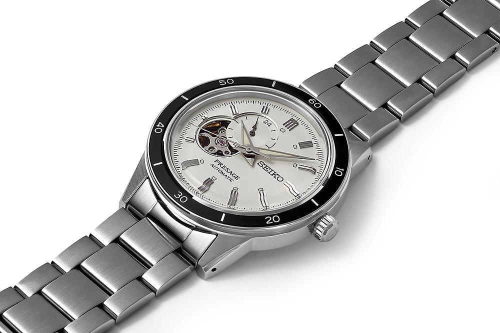 nuevo reloj seiko presage vintage60's open heart ssa423j1