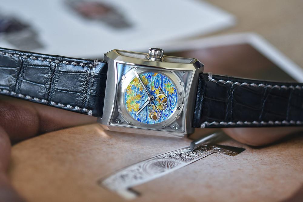 reloj Minase Five Windows One Champleve enamel
