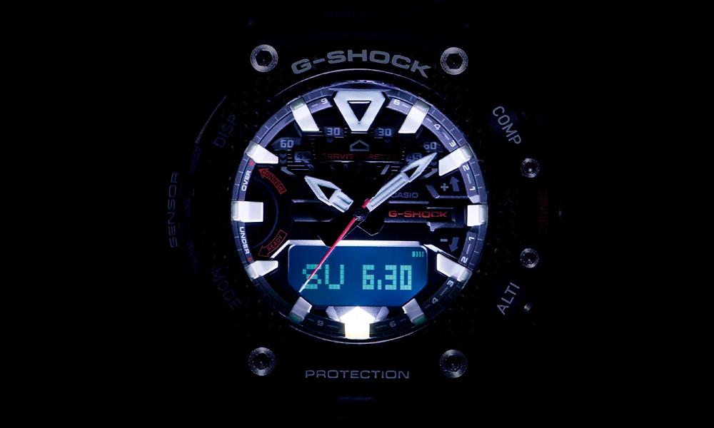 Iluminación nocturna reloj Gravitymaster GRB200 novedad 2021