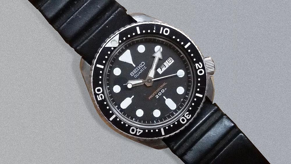 reloj Diver's Seiko 7548-7010 brian may guitarrista queen