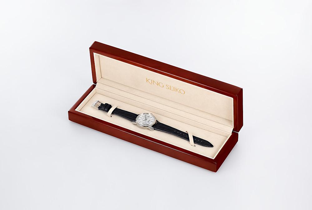 estuche reloj  king seiko ksk modelo SJE083