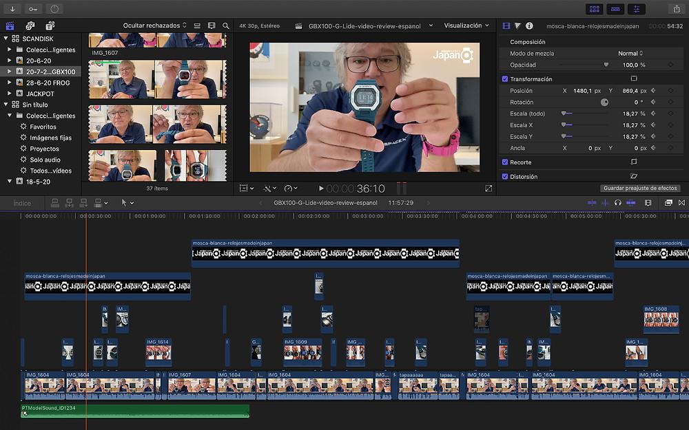 video analisis nuevo Casio G-Shock G-Lide modelo GBX100