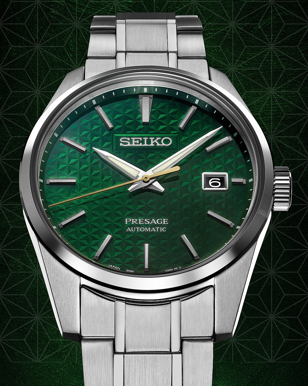 reloj Seiko Presage Sharp Edged Series verde SPB169