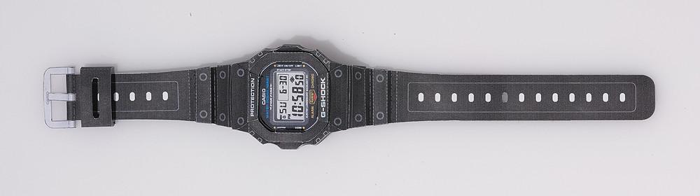 Plantillas para construir reloj Casio G-Shock DW5600 en papel