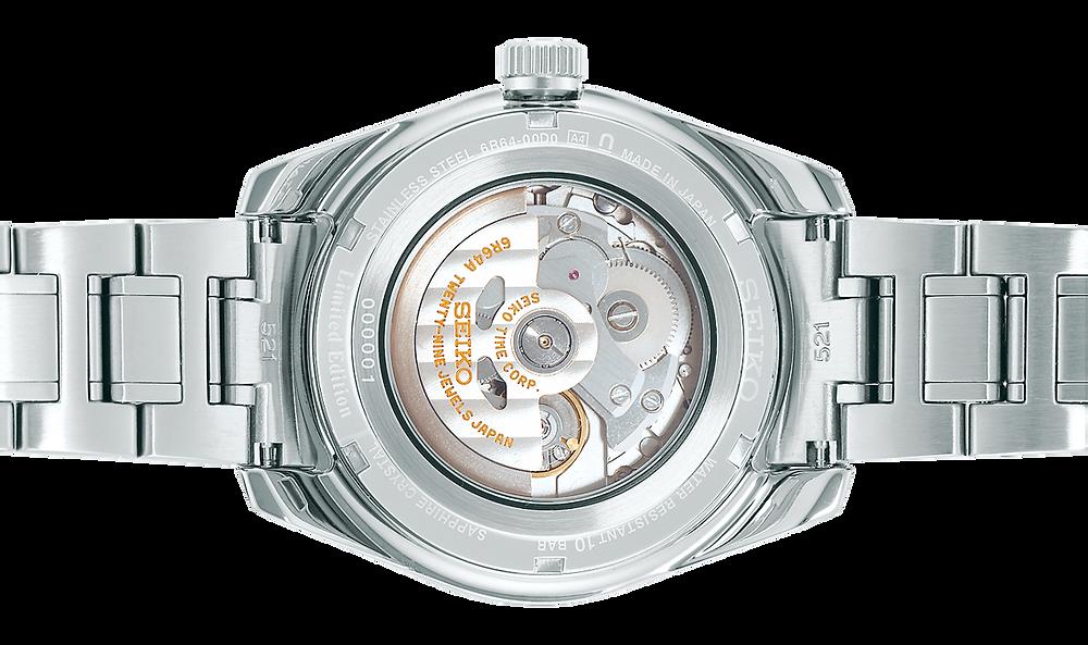 detalle fondo cristal hardlex seiko presage SPB223J1