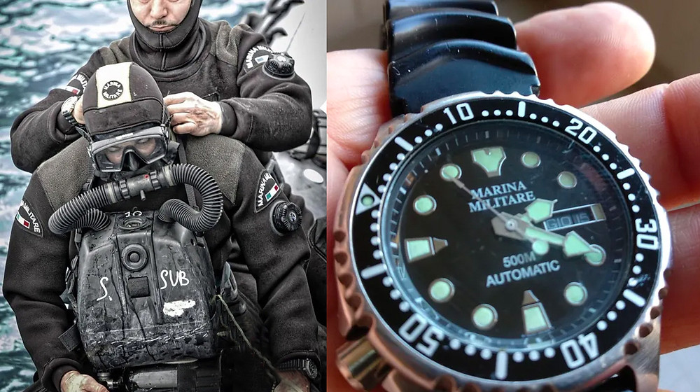 reloj Citizen marina militare usado por las fuerzas armadas italianas