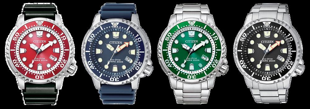 todos los colores reloj Citizen promaster eco drive 200m serie BN015x-xxx