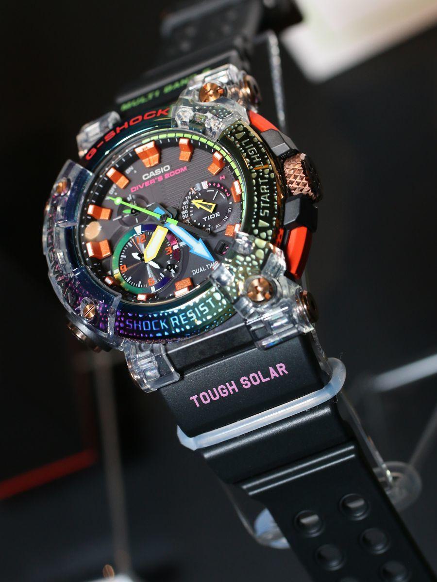 reloj frogman de G-Shock modelo GWF-A1000BRT-1A edicion limitada 2020 Borneo Rainbow Toad