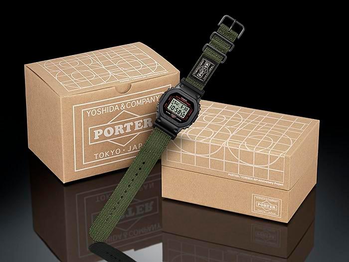 detalle tapa fondo reloj edición limitada g-shock x porter GM-5600EY