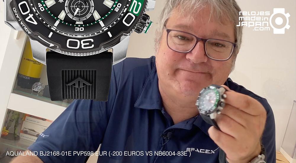 video analisis reloj divers citizen aqualand 2021 bj2168-01e