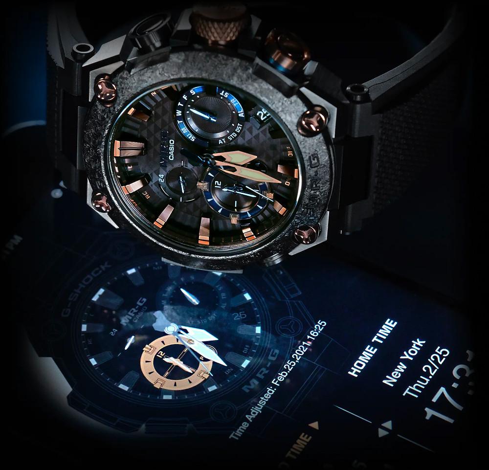 detalle app MRG para los relojes top Casio MRG-B2000