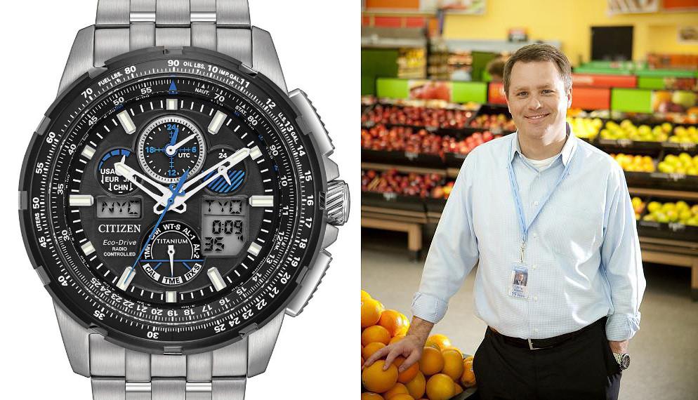 Presidente Walmart Doug McMillon con reloj Citizen Skyhawk titanio