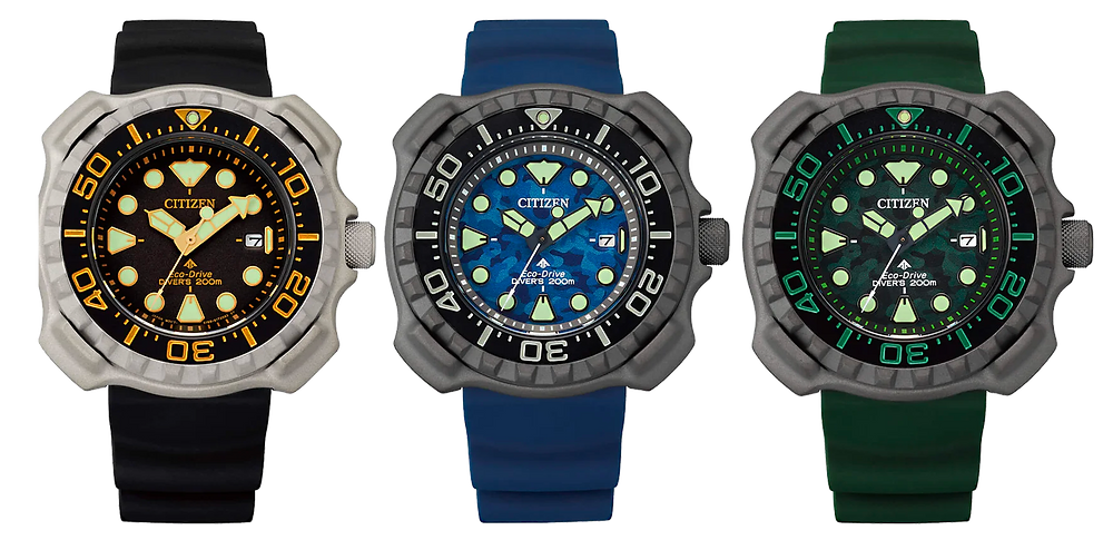 relojes diver citizen watch re-edicion 1982 super titanium ecodrive 200m bn0228 bn0220 bn0227
