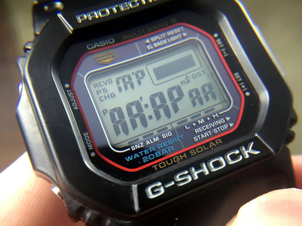 Comprobando LCD funciones para saber si G-Shock es autentico y original