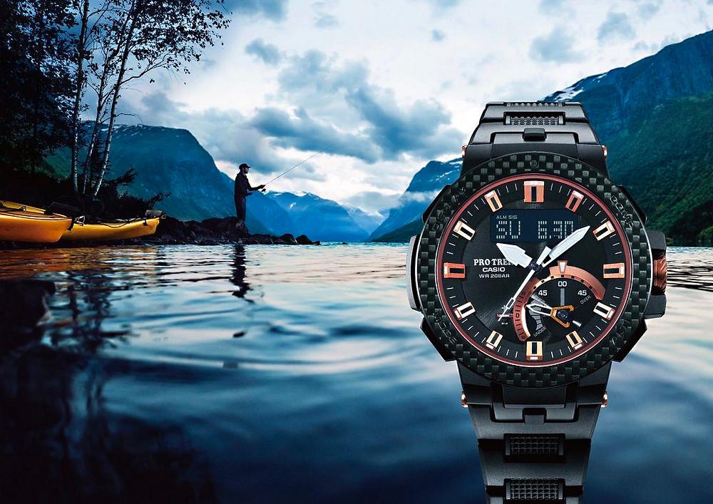 Edicion Limitada reloj  Casio Pro Trek PRW-7000X-1ER novedad 2021 fibra carbono