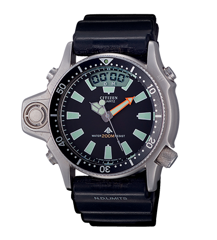 reloj-icónico citizen aqualand 1989 modelo calibre C020