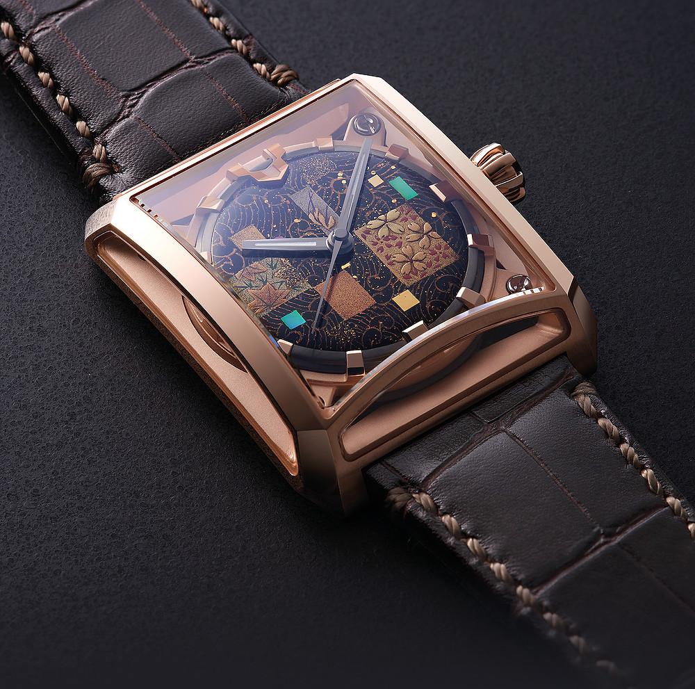 reloj japones-de lujo Minase referencia VM15-CMA2-KPJ