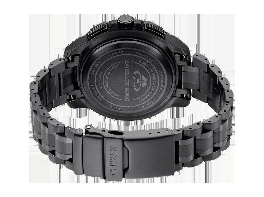 detalle pulsera super titaniu reloj Citizen sky premier gps CC9025-51E
