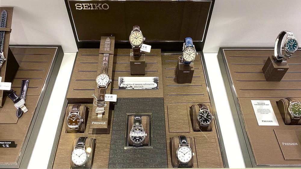relojes colección Seiko Presage en inauguración tienda Madrid Seiko Boutique