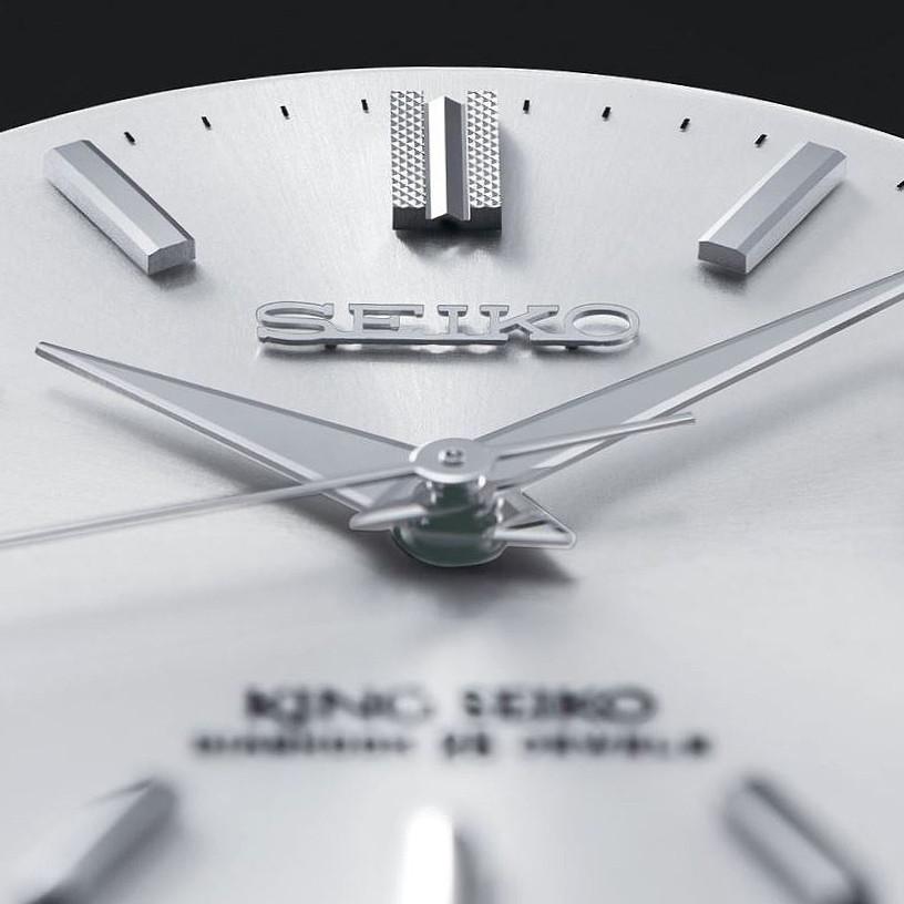 detalle esfera reloj king seiko ksk reinterpretacion 2021 de 3000 piezas numeradas
