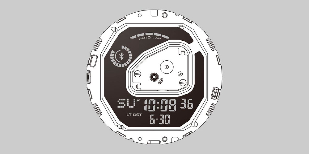 area lcd grande reloj g-squad de casio g-shock ref gba-900-4aer