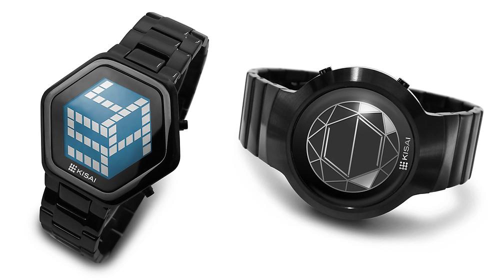 Reloj japones marca Kisai digital modelo polygon black 2019