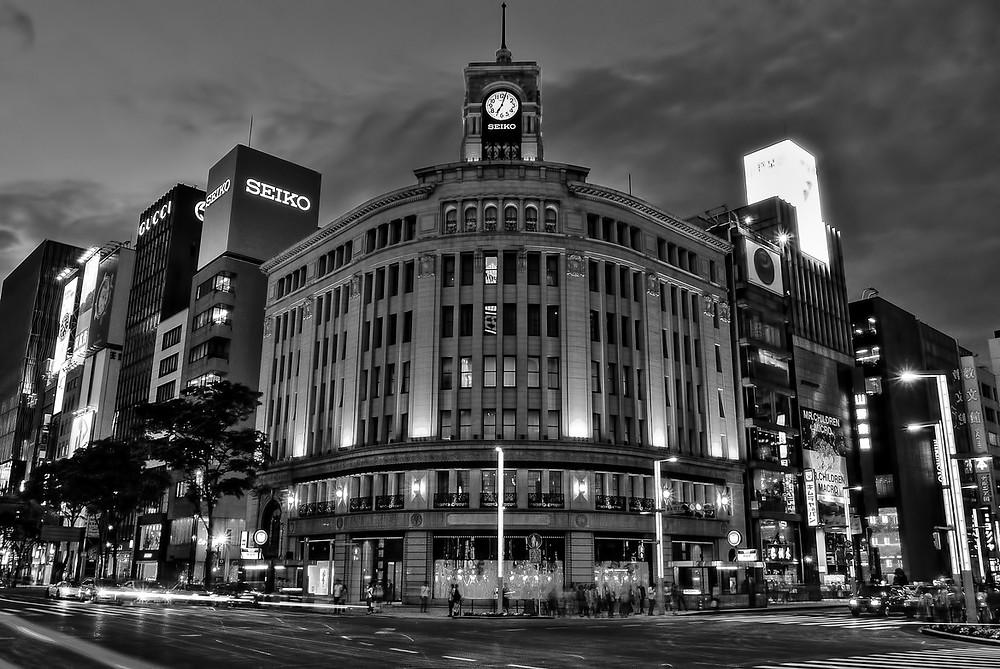 edificio Wako torre reloj en Ginza sede SEIKO