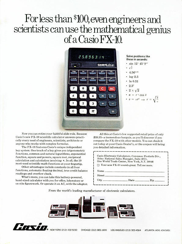 Calculadora Casio FX-10