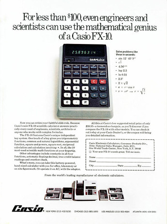 Calculadora Casio FX-10