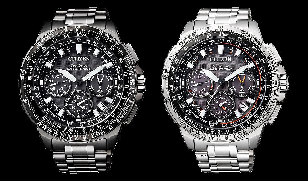 relojes Citizen watch top con GPS y Solares con Supertitanium  NAVYHAWK CC9025-51E + CC9020-54E