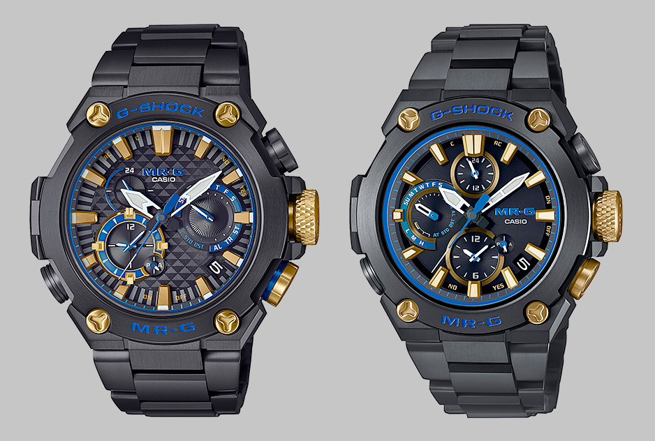 Nuevos relojes MR-G de Casio edicion Kachi-Iro azul marino samurai