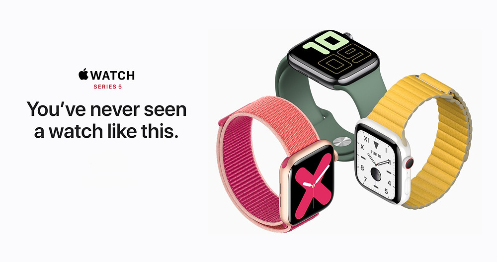 Publicidad Apple del reloj watch series 5 en 2019
