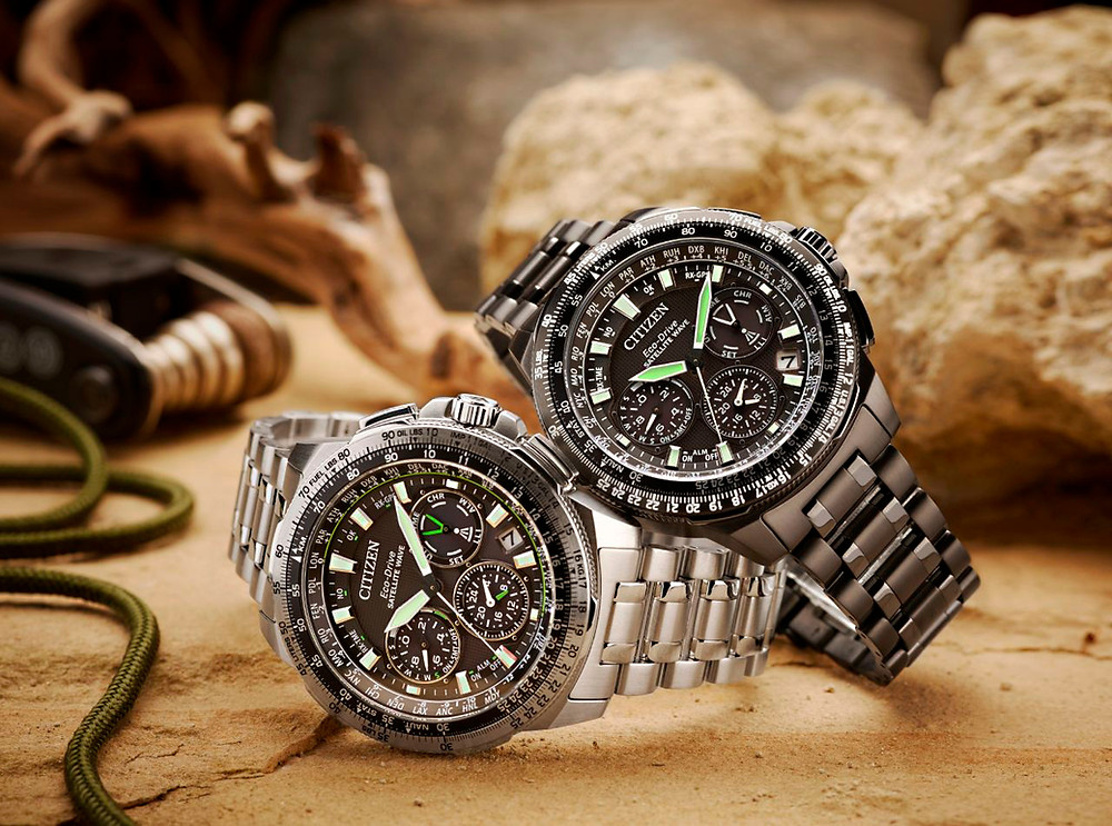 relojes gps solar titanio mrk de citizen top modelos CC09030-51E -CC9025-85E-