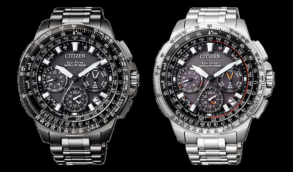 relojes pilot con GPS y Titanoi de Citizen Promaster, modelos CC9020-54E y CC9025-51E