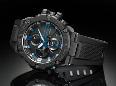 IMagen del relojs de edicion limitada de acero y resina G-Steel GST-B100BNR-1A