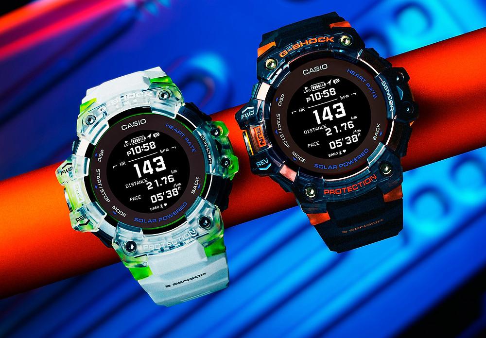 Nuevos relojes gps y sensor medicion cardíaca HR de casio G-Shock  GBD-H1000-7A9