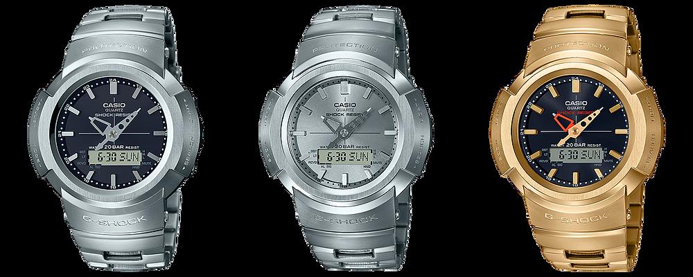 nuevos relojes 2020 g-shock ana-digi awm500 full metal
