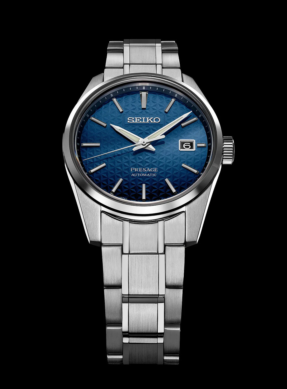 Seiko Presage Sharp Edged azul modelo SPB167