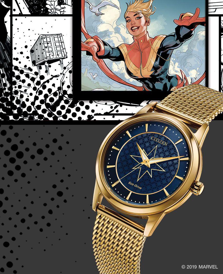 Reloj edición especial FE7062-51W modelo captain marvel de Citizen relojes japoneses