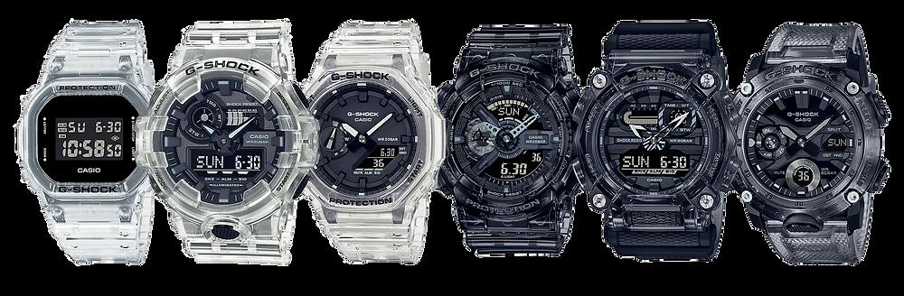 todos los 6 nuevos relojes 'ske' skeleton series novedad 2021