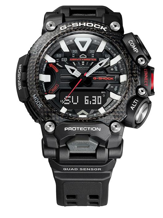 el nuevo reloj GR-B200-1A lleva bisel de fibra de carbono