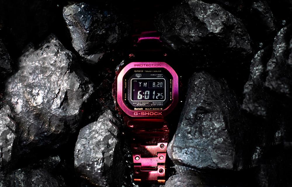 reloj digital g-shock modelo acero gmw b5000rd 4 color burdeos novedad 2021