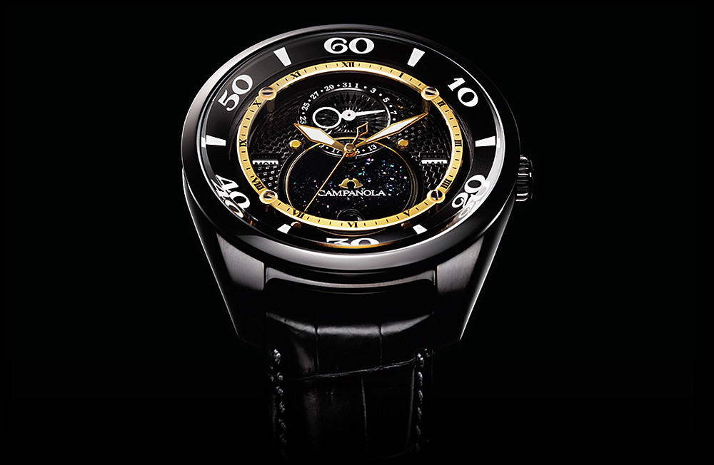 BU0024-02E reloj campanola ecodrive fase lunar edicion limitada 300uds acabado dlc oro 18k